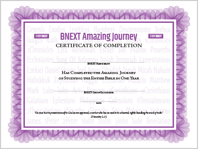 BNEXT Certificate
